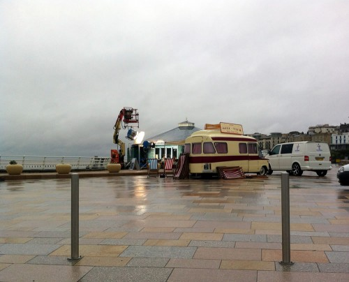 Filming in Weston-super-Mare