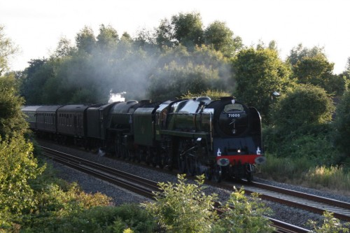 71000 Duke of Gloucester and 60163 Tornado.