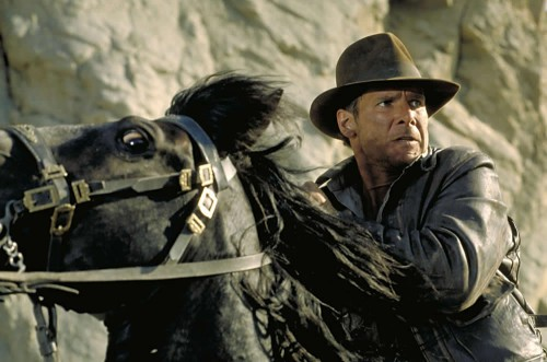 Indiana Jones on  a horse