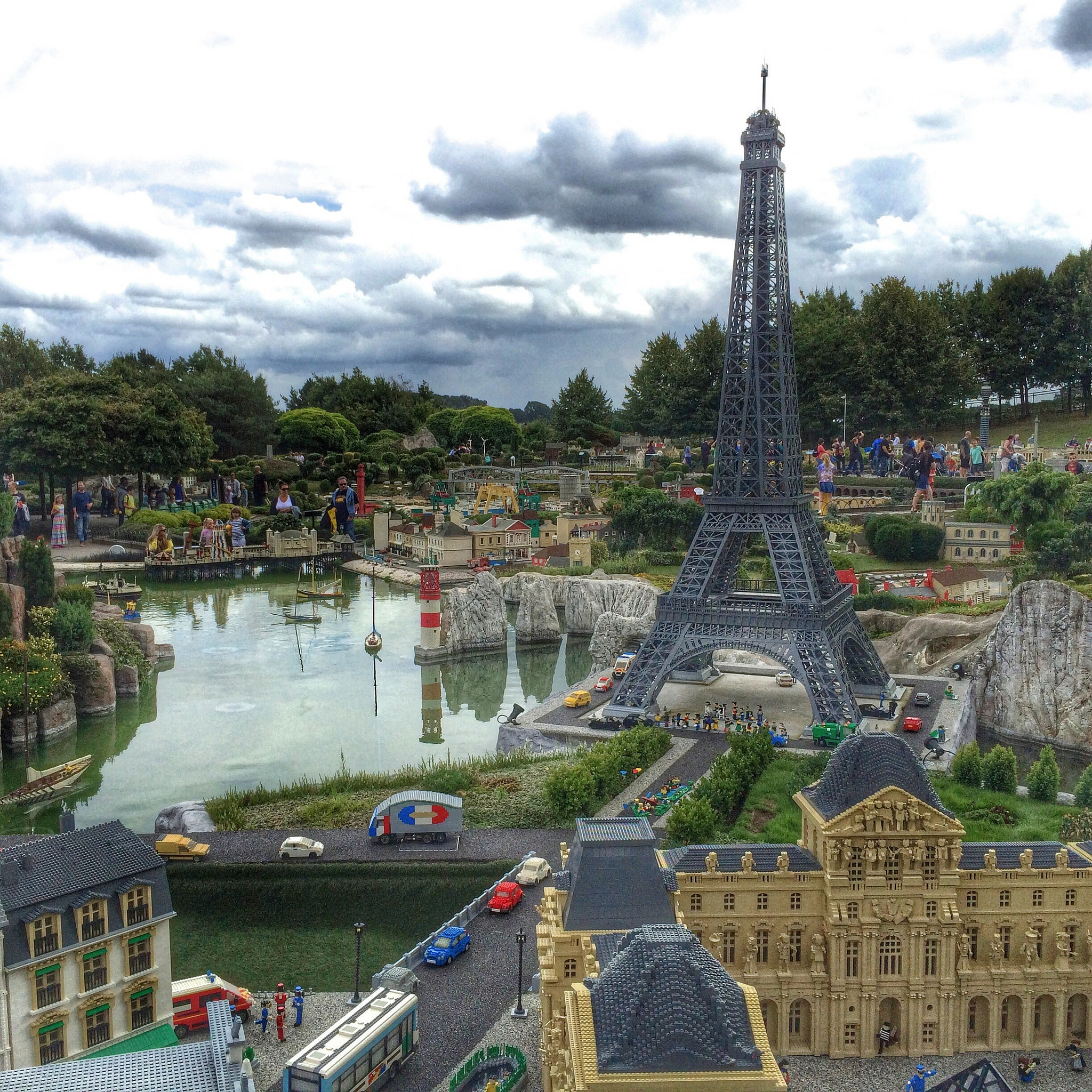 Paris in Lego, including the Eiffel Tower